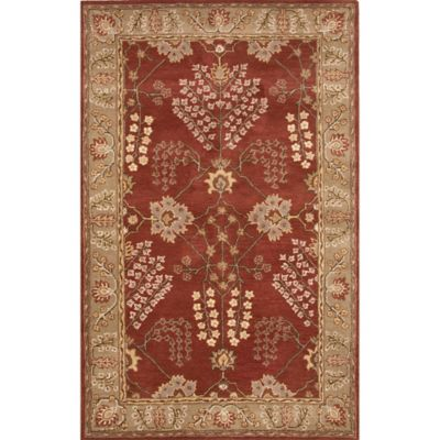 Jaipur Poeme Collection Chambery 2-Foot x 3-Foot Accent Rug in Red/Green