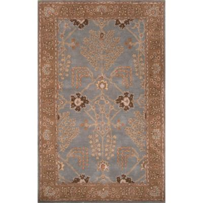 Jaipur Poeme Collection Chambery 9-Foot 6-Inch x 13-Foot 6-Inch Area Rug in Blue/Brown