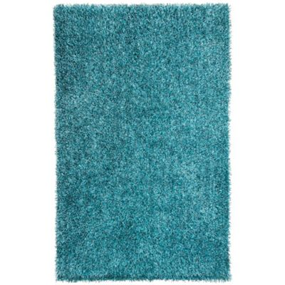 Jaipur Flux 3-Foot 6-Inch x 5-Foot 6-Inch Shag Area Rug in Teal