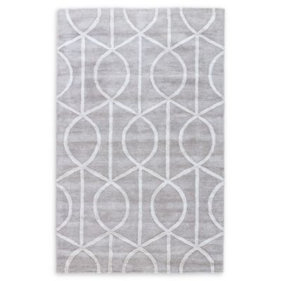 Jaipur City Seattle 3-Foot 6-Inch x 5-Foot 6-Inch Area Rug in Grey/Ivory