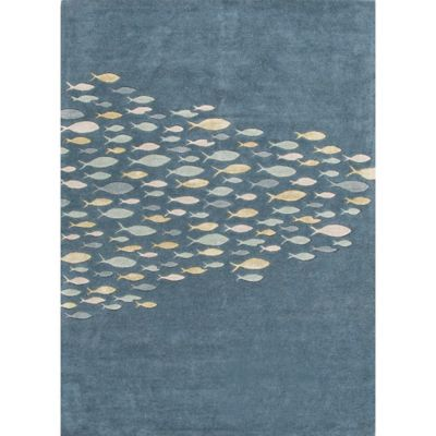 Jaipur Coastal Resort Schooled Hand-Tufted 9-Foot 6-Inch x 13-Foot 6-Inch Area Rug in Blue/Yellow