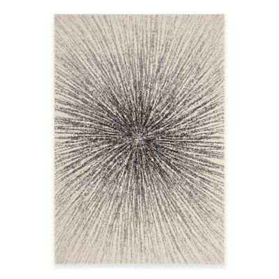 Safavieh Evoke Collection Burst 8-Foot x 10-Foot Area Rug in Black/Ivory
