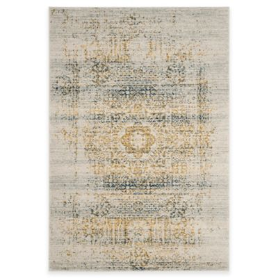Safavieh Evoke Collection Gaia 8-Foot x 10-Foot Accent Rug in Ivory/Blue
