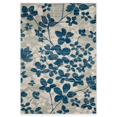 Safavieh Evoke Collection Flora 8-Foot x 10-Foot Area Rug in Grey/Light Blue