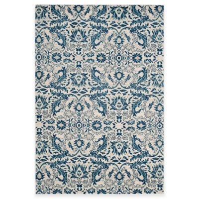 Safavieh Evoke Collection Grove 5-Foot 1-Inch x 7-Foot 6-Inch Area Rug in Ivory/Blue