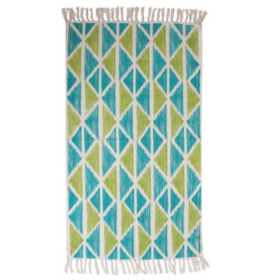 Thro Jeryl Baltic 2-Foot 3-Inch x 3-Foot 4-Inch Accent Rug in Blue