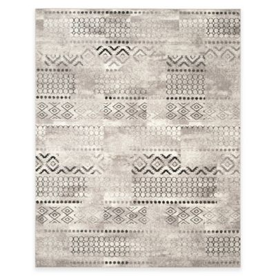 Safavieh Evoke Collection Southwest 8-Foot x 10-Foot Area Rug in Cream/Dark Grey