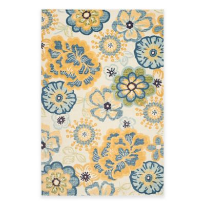 Safavieh Evoke Collection Floral 2-Foot 3-Inch x 8-Foot Runner in Cream/Gold