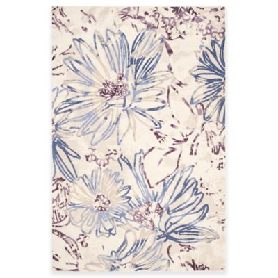 Safavieh Evoke Collection Watercolor Floral 8-Foot 6-Inch x 12-Foot Area Rug in Cream/Purple