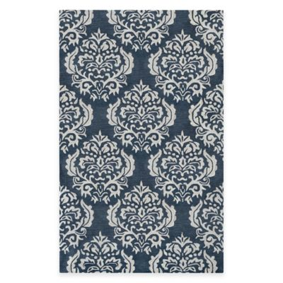 Blue Medallion 2-Foot x 4-Foot Accent Rug