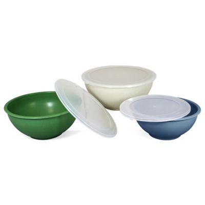 6-Piece Bamboo Fiber Mixing Bowl Set
