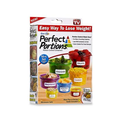 Get Fit Perfect Portions™ 14-Piece Portion Control Food Containers