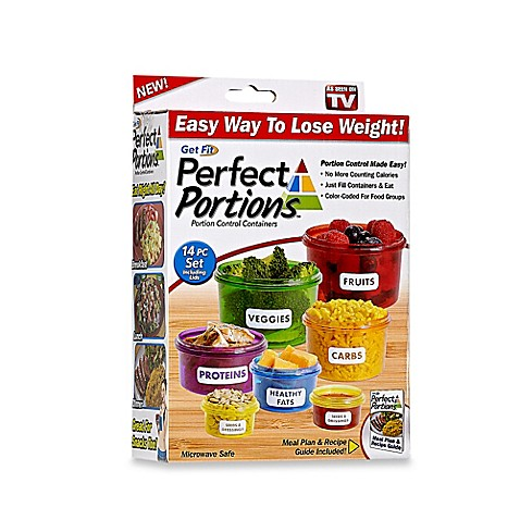 Get Fit Perfect Portions  Piece Portion Control Food Containers