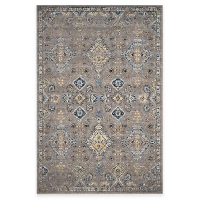 Safavieh Evoke Collection Diamonds 8-Foot x 10-Foot Area Rug in Dark Grey/Yellow