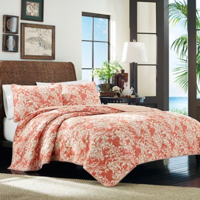 Tommy Bahama® Orchid Retreat Twin Quilt in Coral