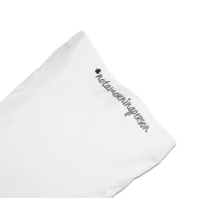 Chatter Box #NOTAMORNINGPERSON Standard Pillowcase in Grey