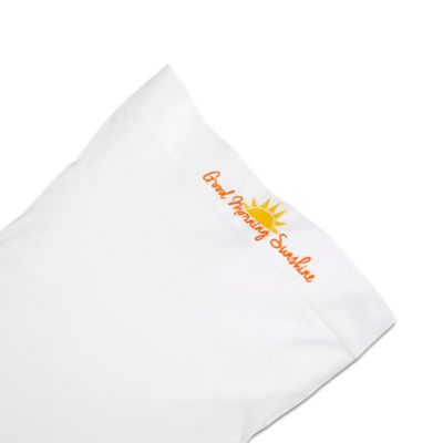 Chatter Box Good Morning Sunshine Standard Pillowcase in Yellow