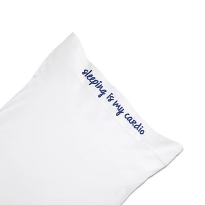 Chatter Box Sleeping Is My Cardio Standard Pillowcase in Indigo