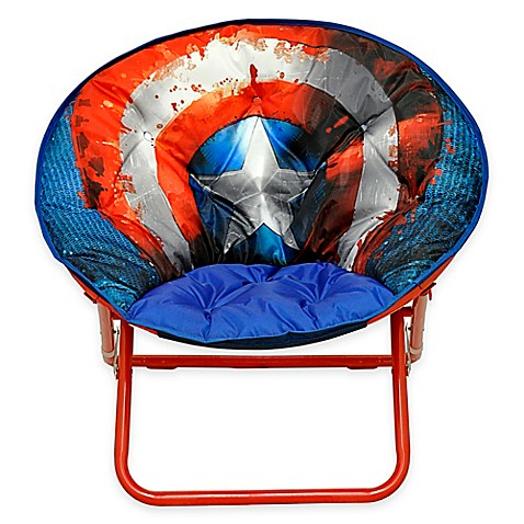 Marvel captain america adult saucer chair bed bath beyond - Superhero laundry hamper ...