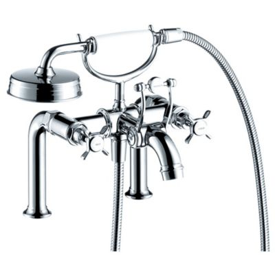Hansgrohe Axor Montreux 2-Handle Fixed Deck-Mount Tub Faucet in Polished Nickel