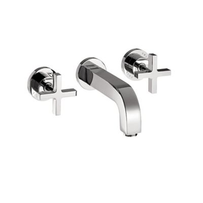 Axor Cittero 2-Handle Wall Mounted Widespread Faucet with Cross Handles in Chrome