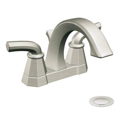 Moen® Felicity 2-Handle Centerset Bathroom Faucet in Brushed Nickel
