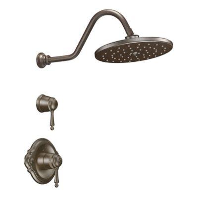 Moen® Waterhill ExactTemp 2-Handle Wall Mount Shower Faucet in Oil Rubbed Bronze