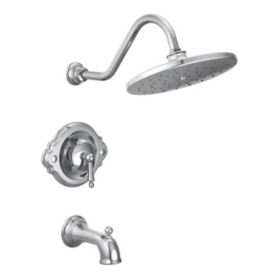Moen® Waterhill 1-Handle Wall Mount Shower Faucet in Brushed Chrome