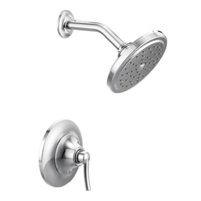 Moen® Fina PosiTemp 1-Handle Wall Mount Shower Faucet in Chrome
