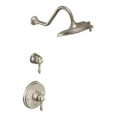 Moen® Waymouth ExactTemp® 2-Handle Wall Mount Shower Faucet in Brushed Nickel