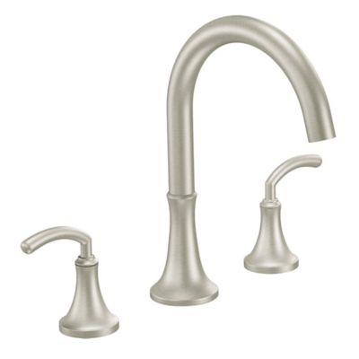Moen® Icon 2-Handle Roman Tub Faucet in Brushed Nickel