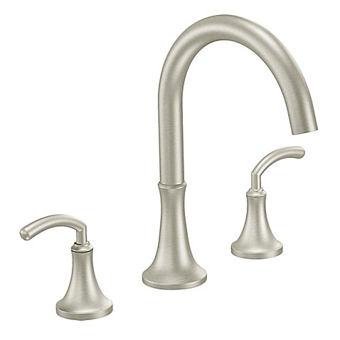 Buy Moen Icon 2 Handle Roman Tub Faucet In Brushed Nickel From Bed Bath Amp
