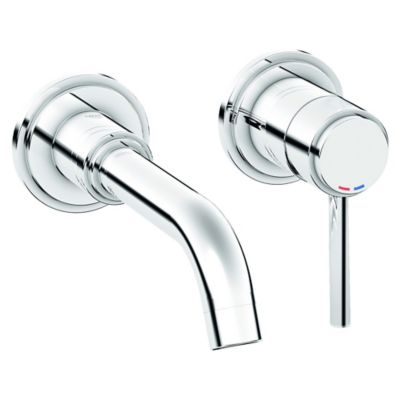 Grohe Atrio Single Handle Wall Mount Bathroom Faucet in Chrome