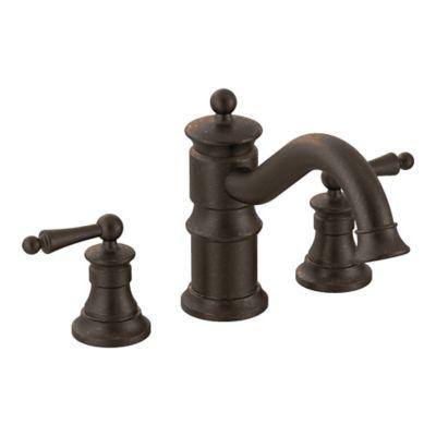 Moen® Waterhill 2-Handle Roman Tub Faucet in Oil Rubbed Bronze