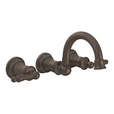 Moen® Waterhill 2-Handle Wall Mount Bathroom Faucet in Oil Rubbed Bronze
