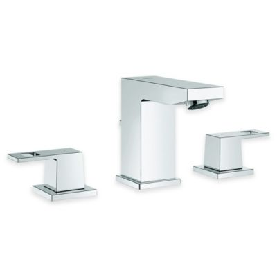 Grohe 2-Handle Eurocube Widespread Bathroom Faucet in Starlight Chrome