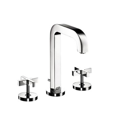 Axor Citterio Widespread 2-Handle Cross Handle Bathroom Sink Faucet in Chrome