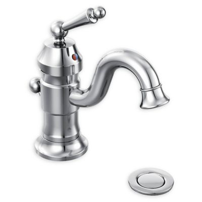 Moen® Waterhill One Handle High Arc Single Hole Bathroom Faucet in Chrome