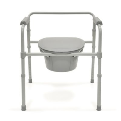 Bios Living Deluxe Commode in Grey/Silver