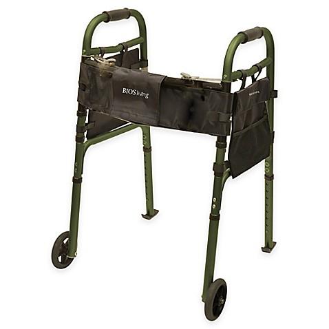 Bios Living Folding Walker With Wheels In Dark Green