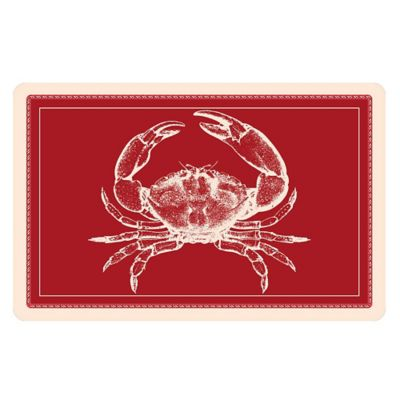The Softer Side by Weather Guard™ 18-Inch x 27-Inch Red Crab Kitchen Mat