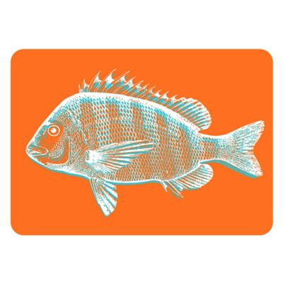 The Softer Side by Weather Guard® 18-Inch x 27-Inch Fish Kitchen Mat in Orange