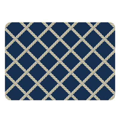 The Softer Side by Weather Guard™ 18-Inch x 27-Inch Nautical Rope Kitchen Mat