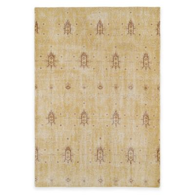 Kaleen Restoration Curio 5-Foot x 8-Foot Area Rug in Gold