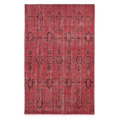 Kaleen Restoration Curio 5-Foot x 8-Foot Area Rug in Red