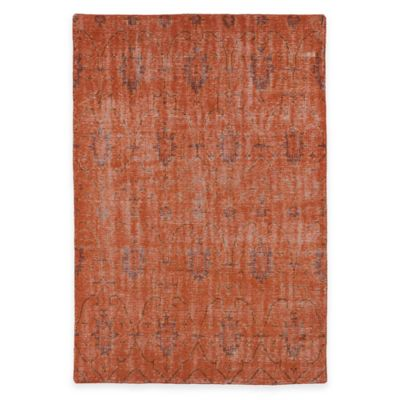 Kaleen Restoration Curio 5-Foot x 8-Foot Area Rug in Pumpkin