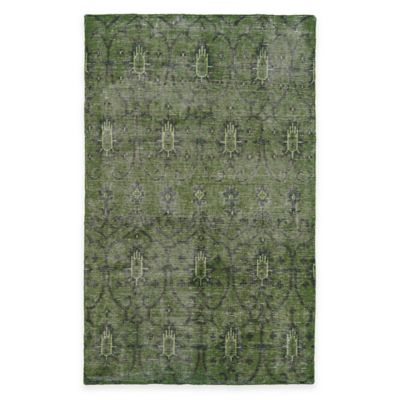 Kaleen Restoration Curio 5-Foot x 8-Foot Area Rug in Green