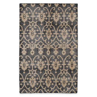 Kaleen Restoration Curio 5-Foot x 8-Foot Area Rug in Black