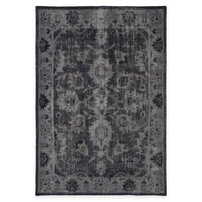 Kaleen Restoration Lucetta 2-Foot x 3-Foot Accent Rug in Black