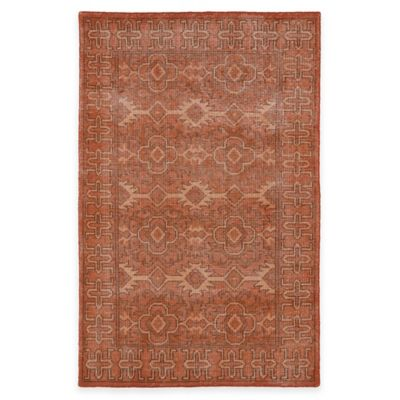Kaleen Restoration Paulina 4-Foot x 6-Foot Area Rug in Paprika